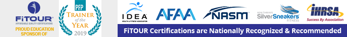 FiTOUR certifications are Nationally Recognized & Recommended
