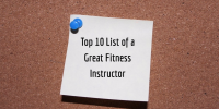 Group Fitness Instructor Top Ten